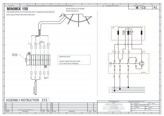 belle minimix 150 wiring diagram belle cement mixer 240v Guitar Output Jack Guitar Jack Schematics