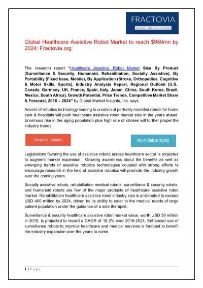 PDF - Healthcare Assistive Robot Market Fractovia