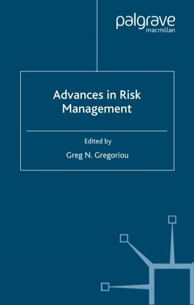Advances In Risk Management