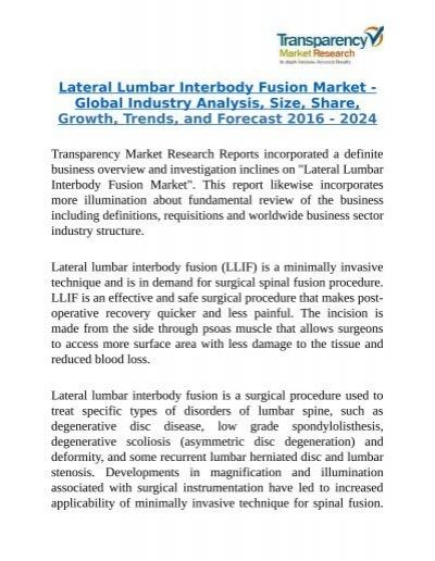 Lateral Lumbar Interbody Fusion Market