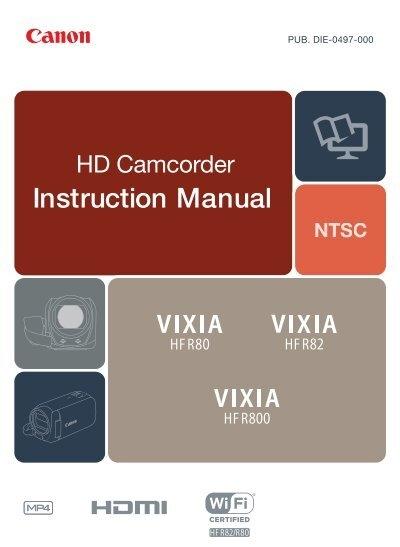 canon vixia hf r800 vixia hf r800 instruction manual rh yumpu com canon vixia hf g40 instruction manual canon vixia hf r300 instruction manual