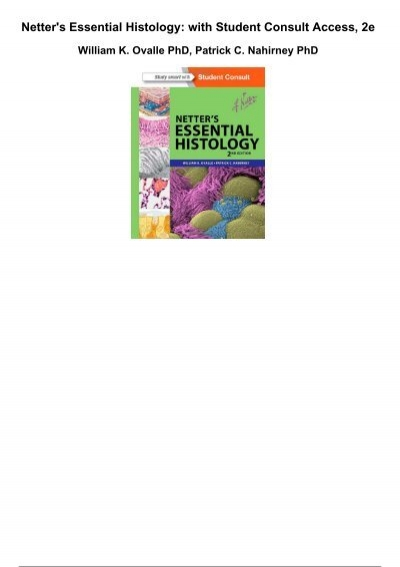 Netters Essential Histology With Student Consult Access 2e
