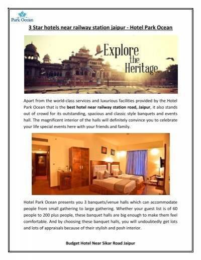 3 Star Hotels Near Railway Station Jaipur Hotel Park Ocean