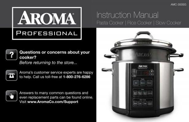 Aroma Aroma Professional 6 Quart Pasta Cooker Rice Cooker Amp