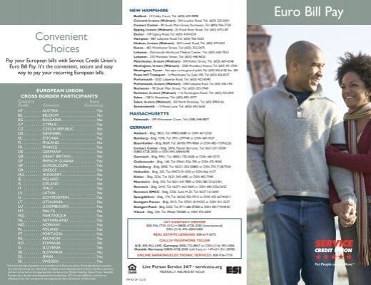 Pay European Bills With Ease And Confidence Service Credit Union