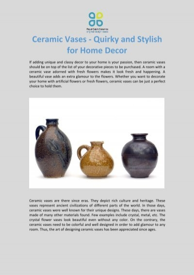 Ceramic Vases Quirky And Stylish For Home Decor