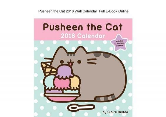 pusheen the cat 2018 wall