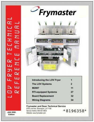 lov fryer technical reference manual frymaster