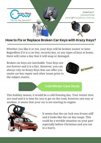 How To Fix Or Replace Broken Car Keys With Krazy Keys