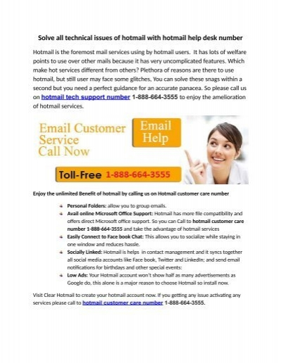 Solve All Technical Issues Of Hotmail With Help Desk Number 1 888 664 3555