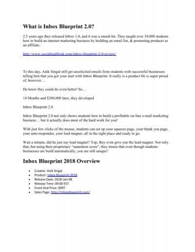 Inbox blueprint 20 review 2018 malvernweather Gallery