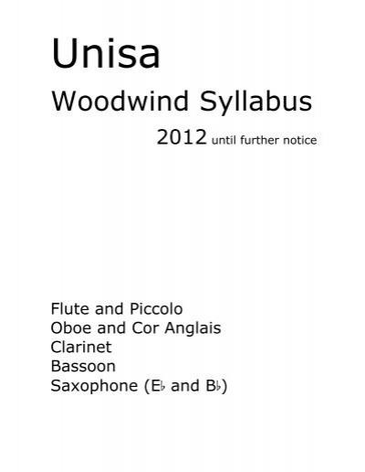 ameb bassoon syllabus pdf download