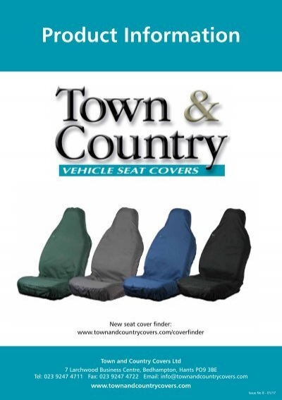 Front Single 3DFBLU Blue Town /& Country Car Seat Cover