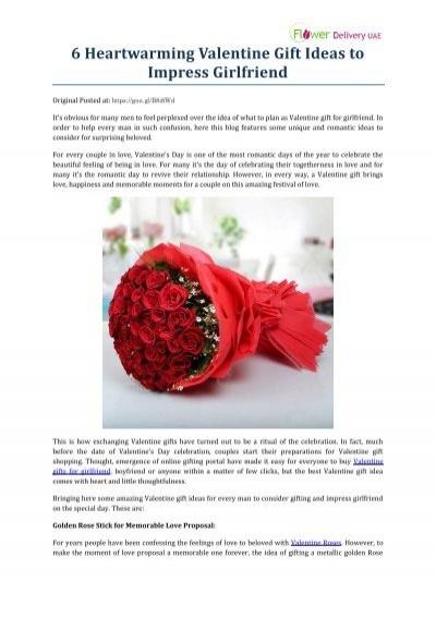 ideas to impress girlfriend