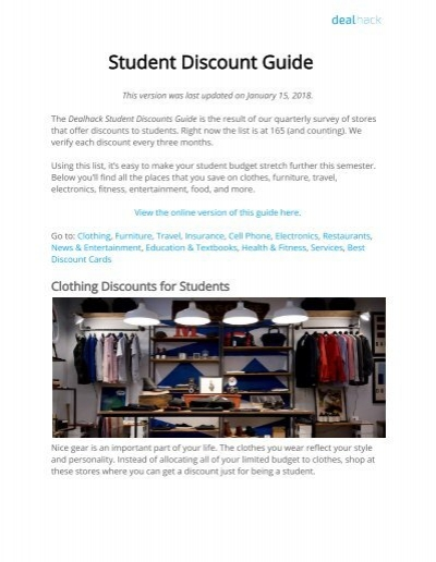 Student discount guide 59805317g fandeluxe Gallery