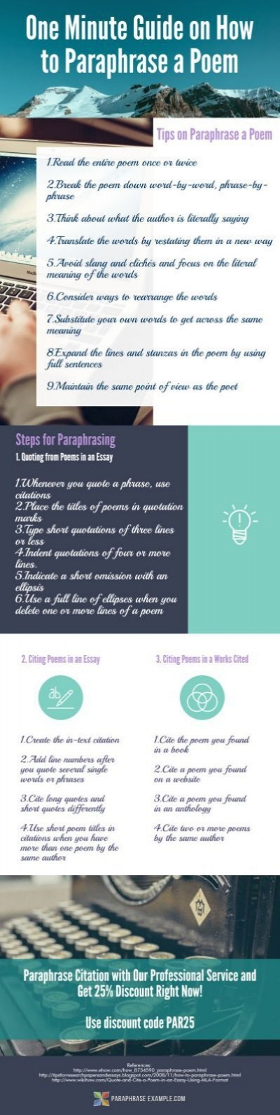 how to paraphrase a poem