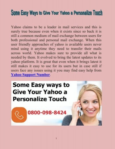 Some easy ways to give your yahoo a personalize touch