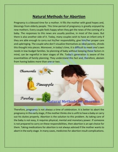 Seeds termination pregnancy sesame in 18 Natural