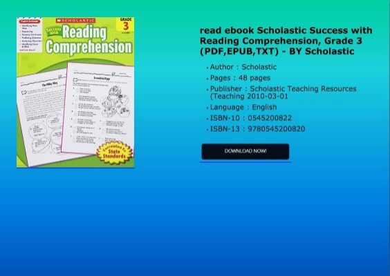 Read ebook scholastic success with reading comprehension grade 3 read ebook scholastic success with reading comprehension grade 3 pdfepubtxt by scholastic fandeluxe Image collections