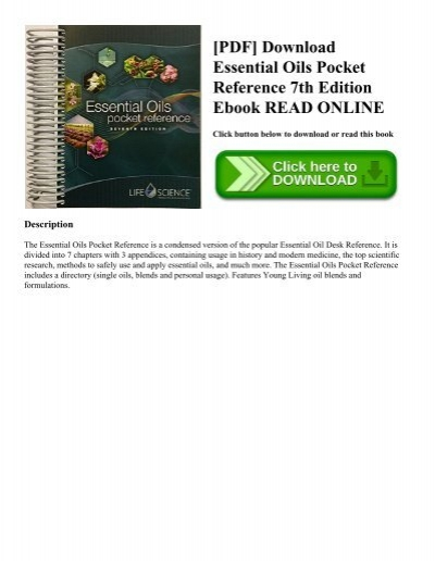 [PDF] Download Essential Oils Pocket Reference 7th Edition Ebook READ ONLINE Design Ideas