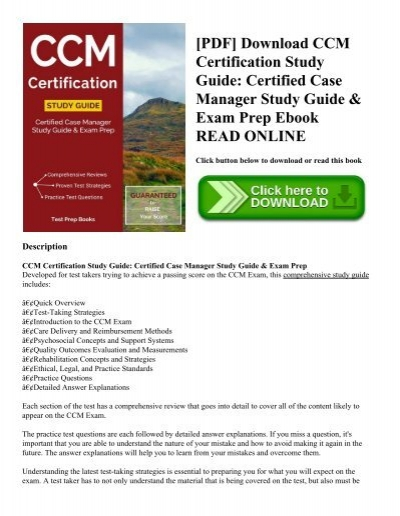 PDF] Download CCM Certification Study Guide: Certified Case Manager ...