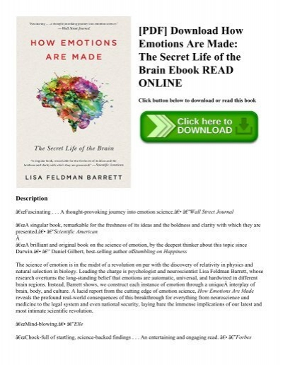 Pdf download how emotions are made the secret life of the brain pdf download how emotions are made the secret life of the brain ebook read online fandeluxe Images
