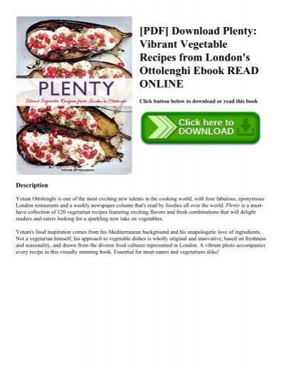 Pdf download plenty vibrant vegetable recipes from londons pdf download plenty vibrant vegetable recipes from londons ottolenghi ebook read online forumfinder Choice Image