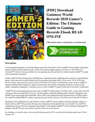 PDF] Download Guinness World Records 2018 Gamer's Edition