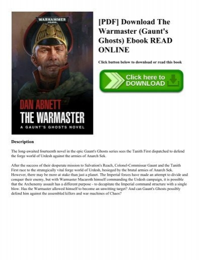 Pdf download the warmaster gaunts ghosts ebook read online pdf download the warmaster gaunts ghosts ebook read online ccuart Images