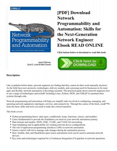PDF] Download Network Programmability and Automation: Skills