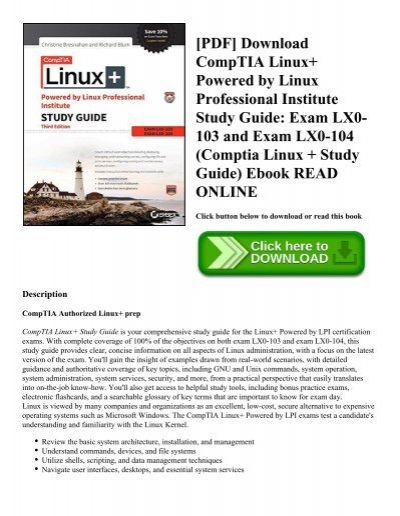 Pdf Download Comptia Linux Powered By Linux Professional Institute