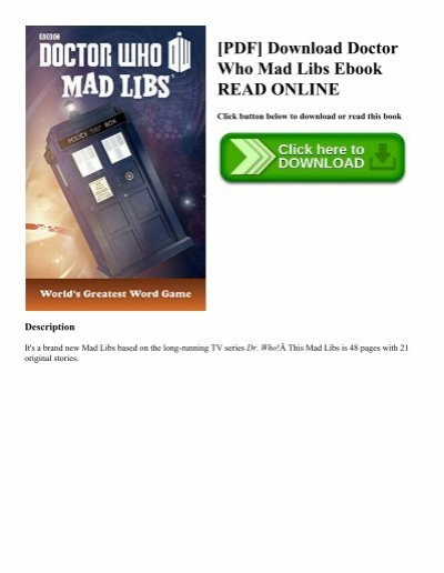 Pdf download doctor who mad libs ebook read online pdf download doctor who mad libs ebook read online fandeluxe Images