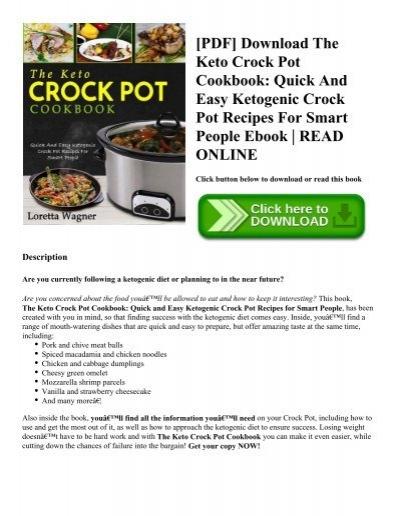 Pdf download the keto crock pot cookbook quick and easy ketogenic pdf download the keto crock pot cookbook quick and easy ketogenic crock pot recipes for smart people ebook read online forumfinder Choice Image