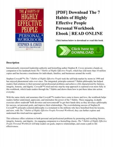 Pdf download the 7 habits of highly effective people personal pdf download the 7 habits of highly effective people personal workbook ebook read online fandeluxe Image collections