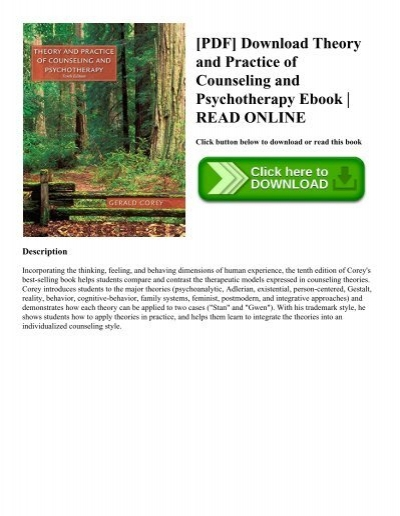 Pdf download theory and practice of counseling and psychotherapy pdf download theory and practice of counseling and psychotherapy ebook read online fandeluxe Image collections