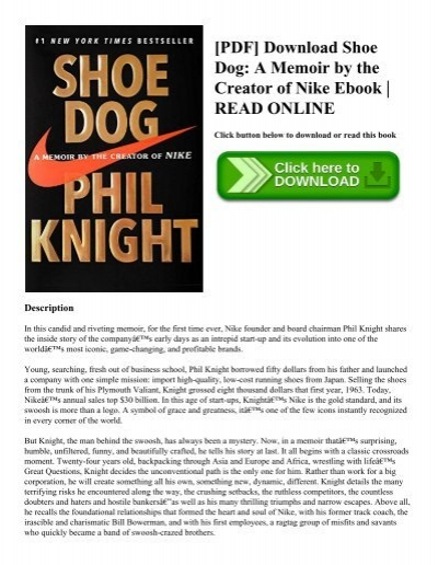 Pdf download shoe dog a memoir by the creator of nike ebook read pdf download shoe dog a memoir by the creator of nike ebook read online fandeluxe Images