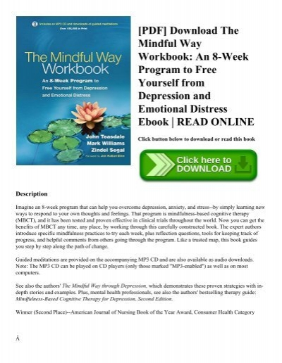 PDF] Download The Mindful Way Workbook: An 8-Week Program to Free
