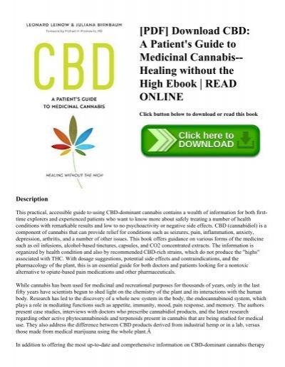 Pdf download cbd a patients guide to medicinal cannabis healing pdf download cbd a patients guide to medicinal cannabis healing without the high ebook read online fandeluxe Gallery