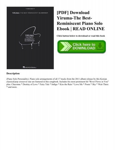 Pdf download yiruma the best reminiscent piano solo ebook read online pdf download yiruma the best reminiscent piano solo ebook read online fandeluxe Images