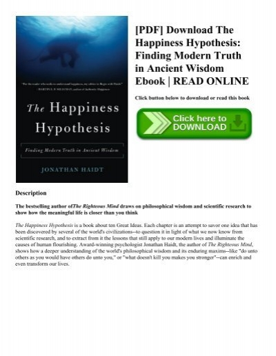 Pdf download the happiness hypothesis finding modern truth in pdf download the happiness hypothesis finding modern truth in ancient wisdom ebook read online fandeluxe Image collections