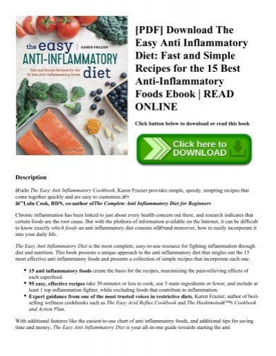 Pdf download the easy anti inflammatory diet fast and simple pdf download the easy anti inflammatory diet fast and simple recipes for the 15 best anti inflammatory foods ebook read online forumfinder Image collections
