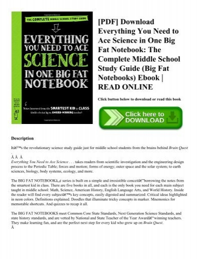 PDF] Download Everything You Need to Ace Science in One Big