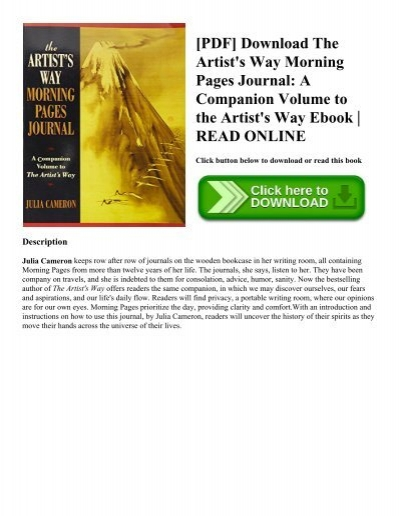 Pdf download the artists way morning pages journal a companion pdf download the artists way morning pages journal a companion volume to the artists way ebook read online fandeluxe Choice Image