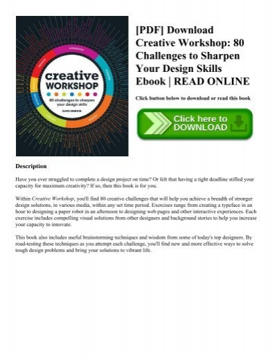 Pdf download creative workshop 80 challenges to sharpen your pdf download creative workshop 80 challenges to sharpen your design skills ebook read online fandeluxe Image collections