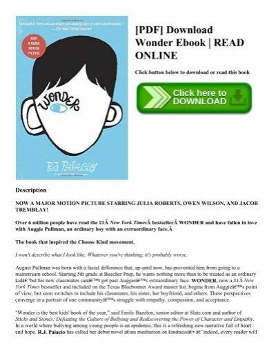 PDF] Download Wonder Ebook | READ ONLINE