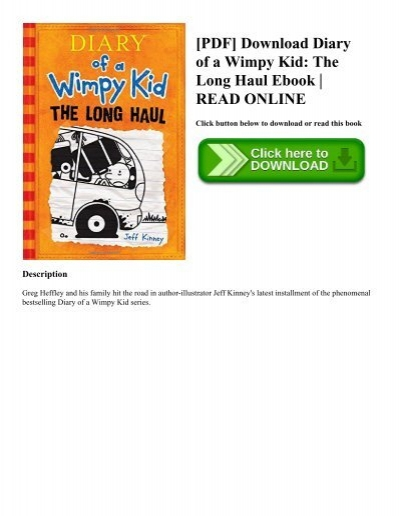 Pdf Download Diary Of A Wimpy Kid The Long Haul Ebook Read Online