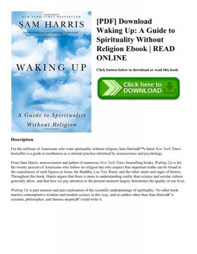 pdf download waking up a guide to spirituality without religion