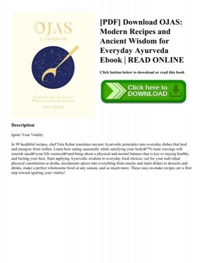 Pdf download ojas modern recipes and ancient wisdom for everyday pdf download ojas modern recipes and ancient wisdom for everyday ayurveda ebook read online forumfinder Images