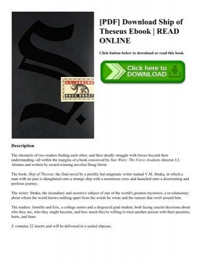 Pdf download ship of theseus ebook read online pdf download ship of theseus ebook read online fandeluxe Gallery