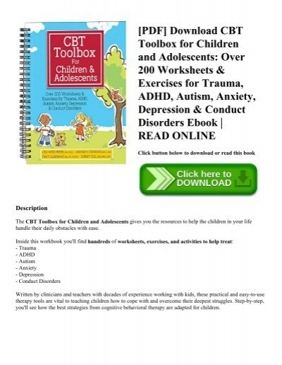 PDF] Download CBT Toolbox for Children and Adolescents Over 200 ...